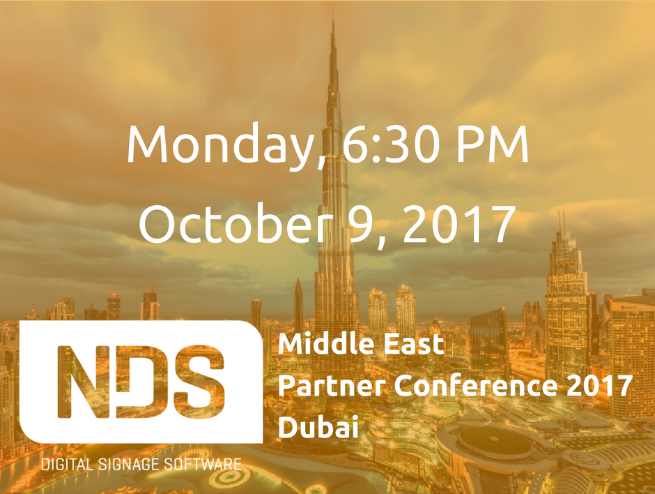 NDS Middle East Partner Conference 2017 & GITEX