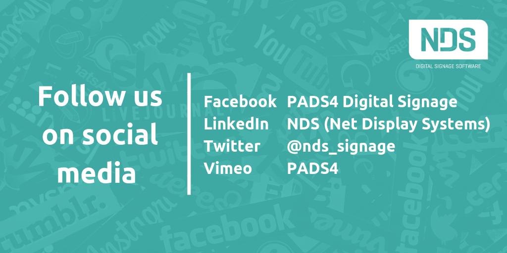 Follow NDS on social media